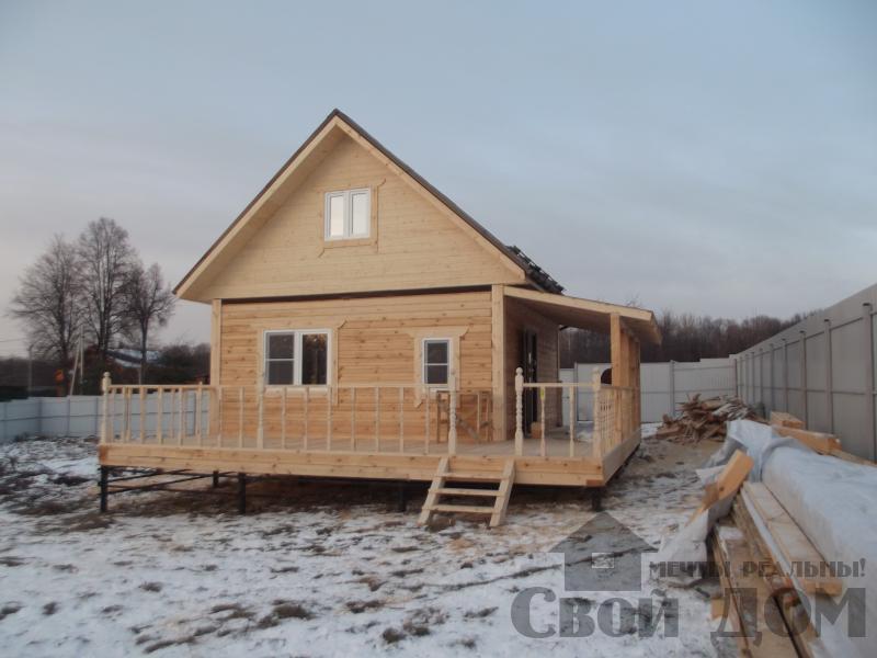 Строительство дома 6 на 6 с террасами в Луховицах. Фото 14