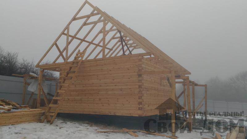 Строительство дома 6 на 6 с террасами в Луховицах. Фото 20