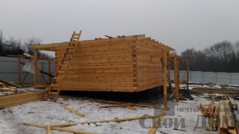 Строительство дома 6 на 6 с террасами в Луховицах. Фото 22
