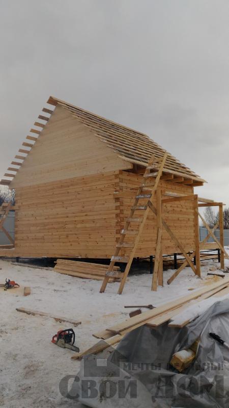 Строительство дома 6 на 6 с террасами в Луховицах. Фото 24