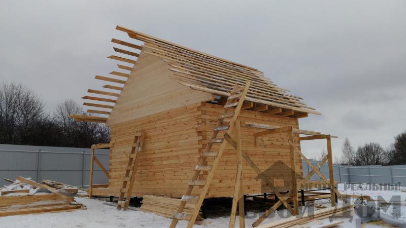 Строительство дома 6 на 6 с террасами в Луховицах. Фото 25