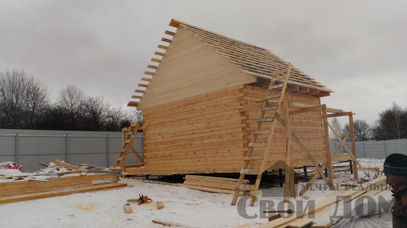 Строительство дома 6 на 6 с террасами в Луховицах. Фото 26