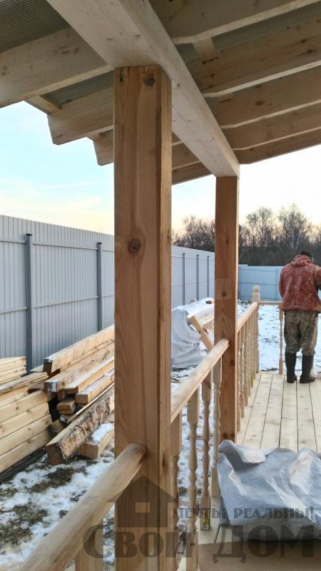 Строительство дома 6 на 6 с террасами в Луховицах. Фото 48
