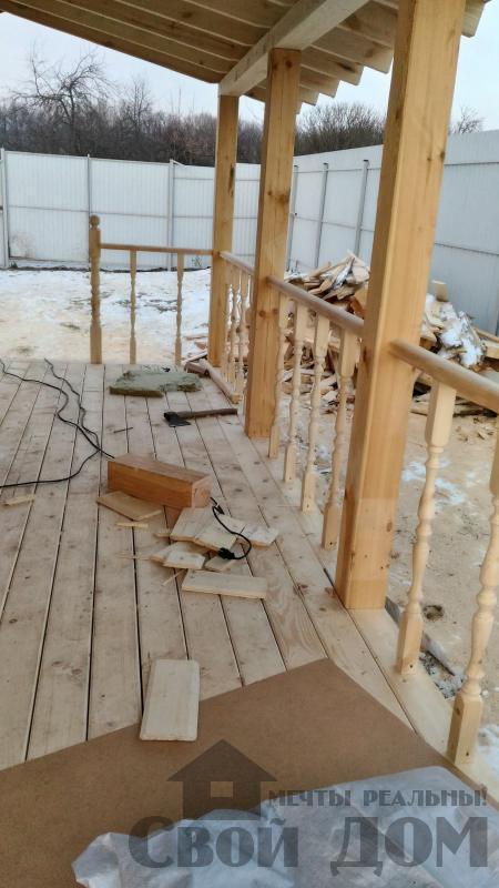Строительство дома 6 на 6 с террасами в Луховицах. Фото 52