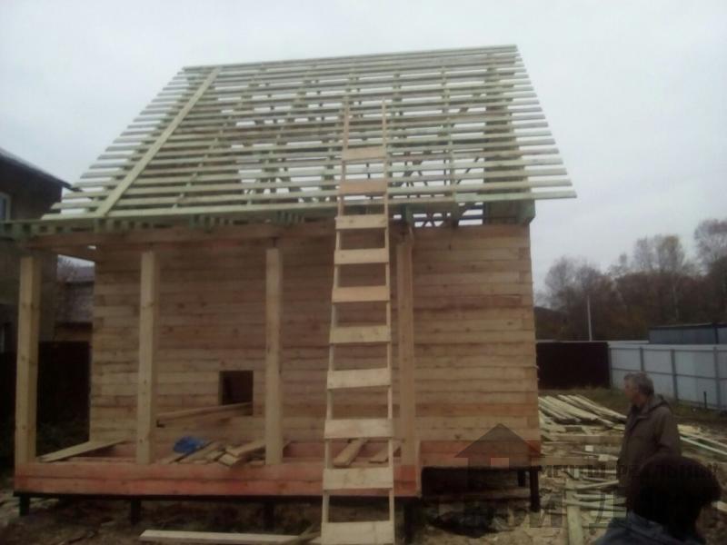 Строительство дома 6 на 9 зимний для постоянного проживания из бруса 150 150 в Мытищах. Фото 5