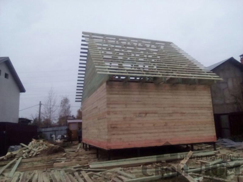 Строительство дома 6 на 9 зимний для постоянного проживания из бруса 150 150 в Мытищах. Фото 3