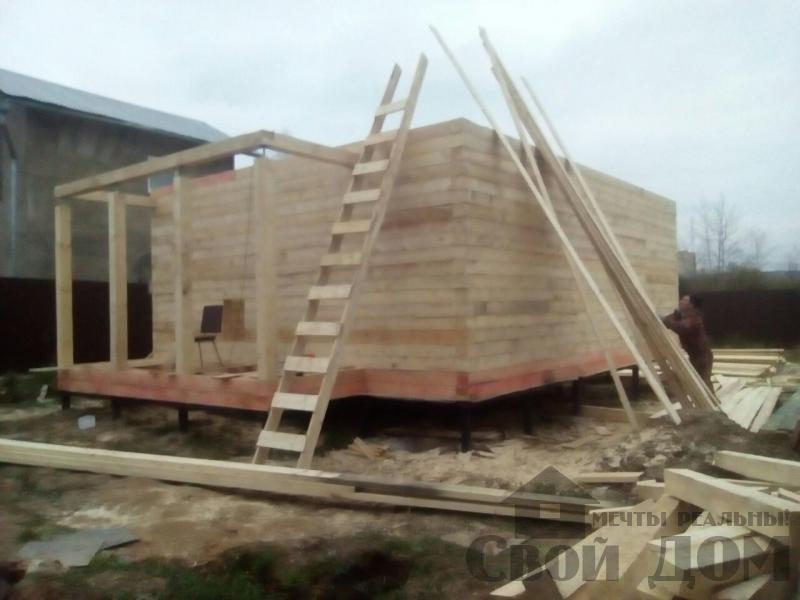 Строительство дома 6 на 9 зимний для постоянного проживания из бруса 150 150 в Мытищах. Фото 4