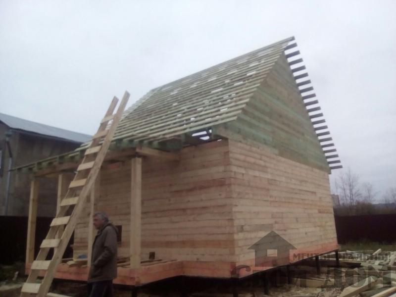 Строительство дома 6 на 9 зимний для постоянного проживания из бруса 150 150 в Мытищах. Фото 1