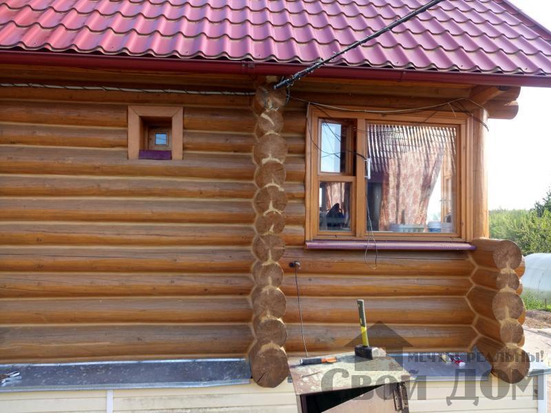Герметизация швов сруба в Нарофоминске. Теплый шов. Фото 4