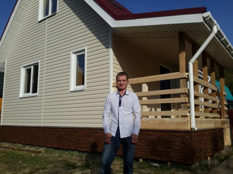 Нарофоминск отделка дома 6 9 из бруса 150 150. Фото 20