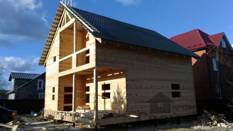 Щелково. Новый городок. Строительство дома из профилированного бруса 150 150 по проекту Брус 43. Фото 1