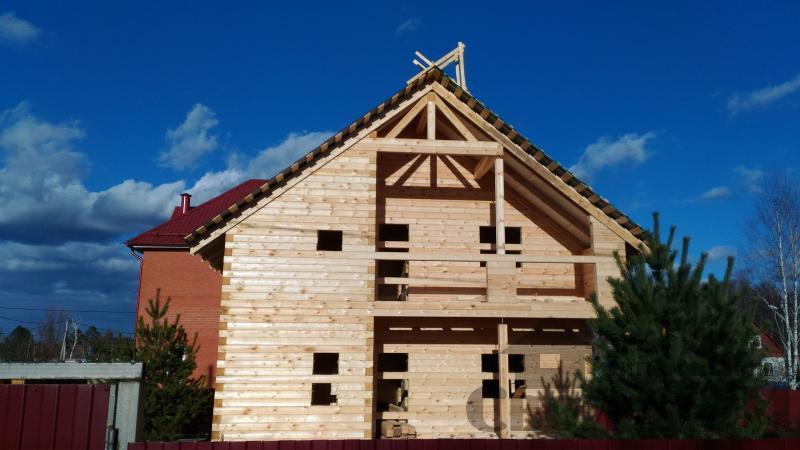 Щелково. Новый городок. Строительство дома из профилированного бруса 150 150 по проекту Брус 43. Фото 2