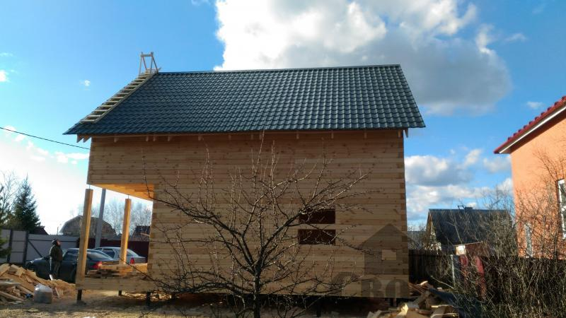 Щелково. Новый городок. Строительство дома из профилированного бруса 150 150 по проекту Брус 43. Фото 3