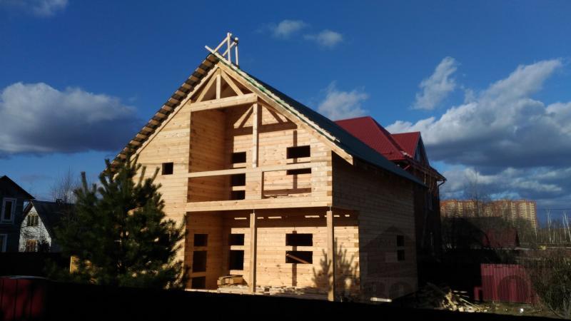 Щелково. Новый городок. Строительство дома из профилированного бруса 150 150 по проекту Брус 43. Фото 4