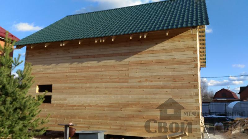 Щелково. Новый городок. Строительство дома из профилированного бруса 150 150 по проекту Брус 43. Фото 5