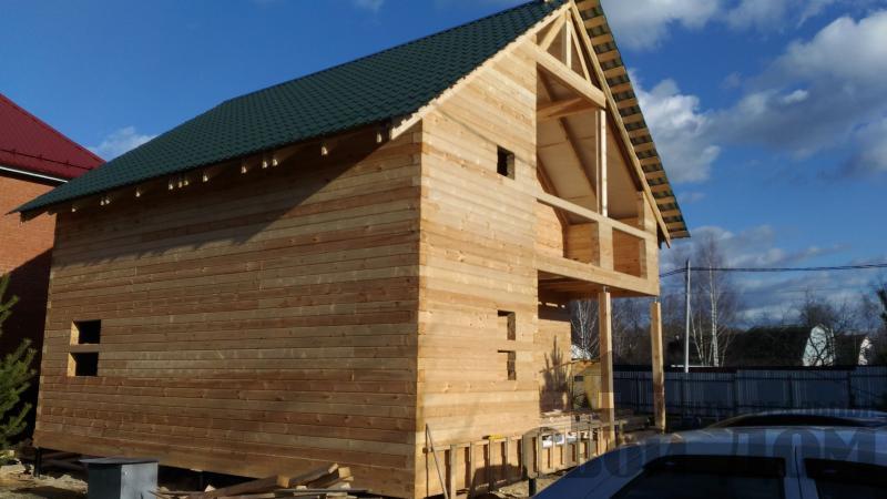 Щелково. Новый городок. Строительство дома из профилированного бруса 150 150 по проекту Брус 43. Фото 6