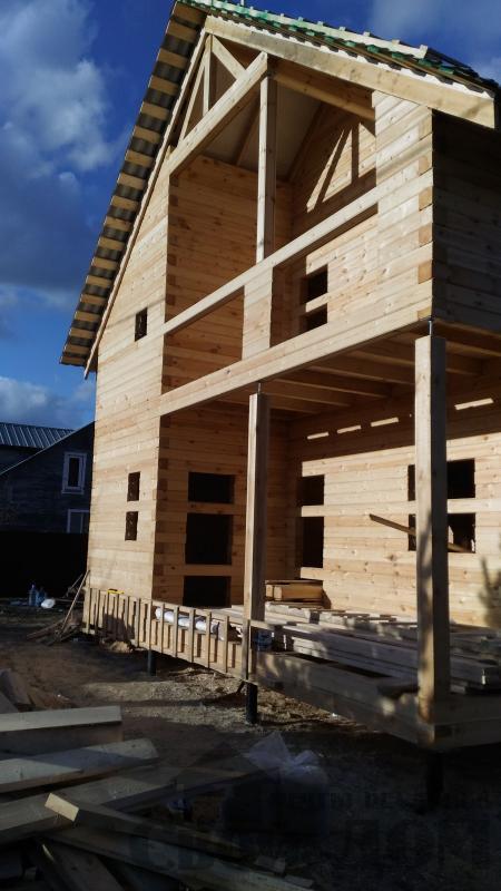 Щелково. Новый городок. Строительство дома из профилированного бруса 150 150 по проекту Брус 43. Фото 8