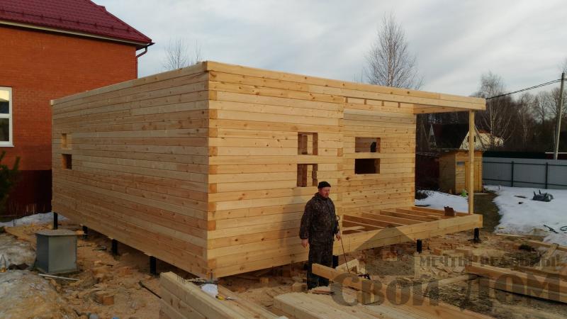 Щелково. Новый городок. Строительство дома из профилированного бруса 150 150 по проекту Брус 43. Фото 11