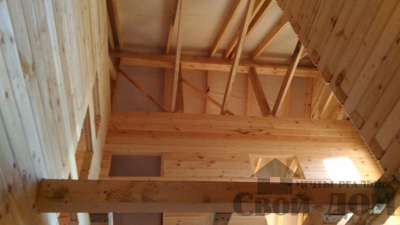Щелково. Новый городок. Строительство дома из профилированного бруса 150 150 по проекту Брус 43. Фото 20