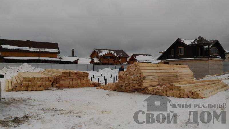 Дом 8 на 11 по проекту Брус 11 из  бруса 150 150 мм в Железнодорожном. Фото 8