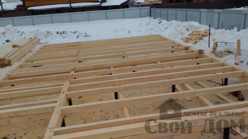 Дом 8 на 11 по проекту Брус 11 из  бруса 150 150 мм в Железнодорожном. Фото 11
