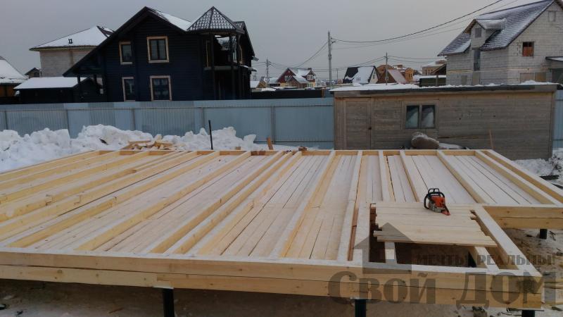 Дом 8 на 11 по проекту Брус 11 из  бруса 150 150 мм в Железнодорожном. Фото 13