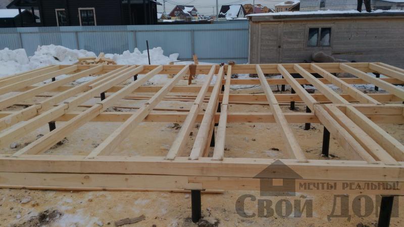 Дом 8 на 11 по проекту Брус 11 из  бруса 150 150 мм в Железнодорожном. Фото 14