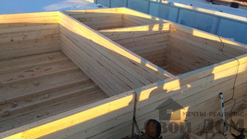 Дом 8 на 11 по проекту Брус 11 из  бруса 150 150 мм в Железнодорожном. Фото 21