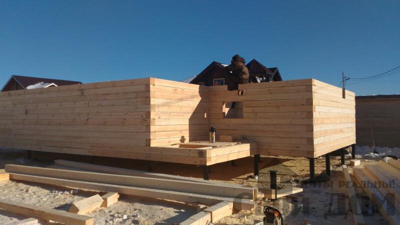 Дом 8 на 11 по проекту Брус 11 из  бруса 150 150 мм в Железнодорожном. Фото 22