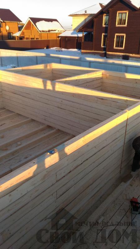 Дом 8 на 11 по проекту Брус 11 из  бруса 150 150 мм в Железнодорожном. Фото 24