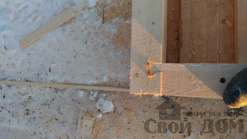 Дом 8 на 11 по проекту Брус 11 из  бруса 150 150 мм в Железнодорожном. Фото 25