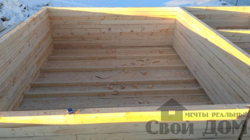 Дом 8 на 11 по проекту Брус 11 из  бруса 150 150 мм в Железнодорожном. Фото 26
