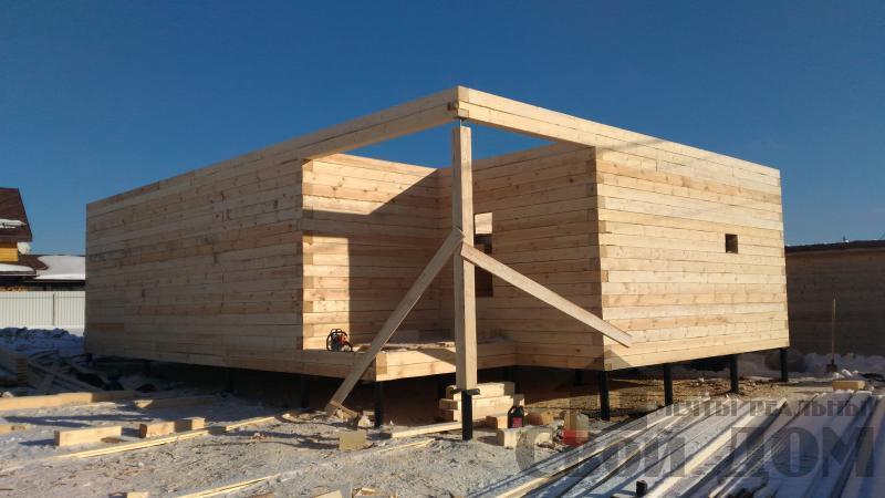 Дом 8 на 11 по проекту Брус 11 из  бруса 150 150 мм в Железнодорожном. Фото 31
