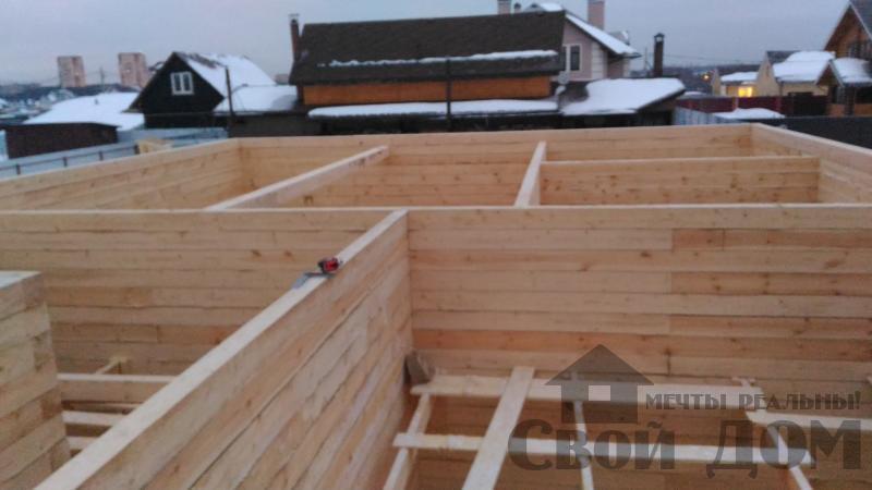 Дом 8 на 11 по проекту Брус 11 из  бруса 150 150 мм в Железнодорожном. Фото 32