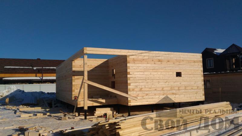 Дом 8 на 11 по проекту Брус 11 из  бруса 150 150 мм в Железнодорожном. Фото 36