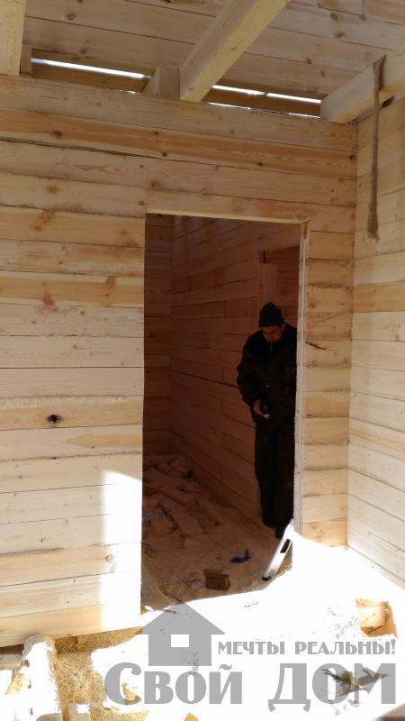 Дом 8 на 11 по проекту Брус 11 из  бруса 150 150 мм в Железнодорожном. Фото 37