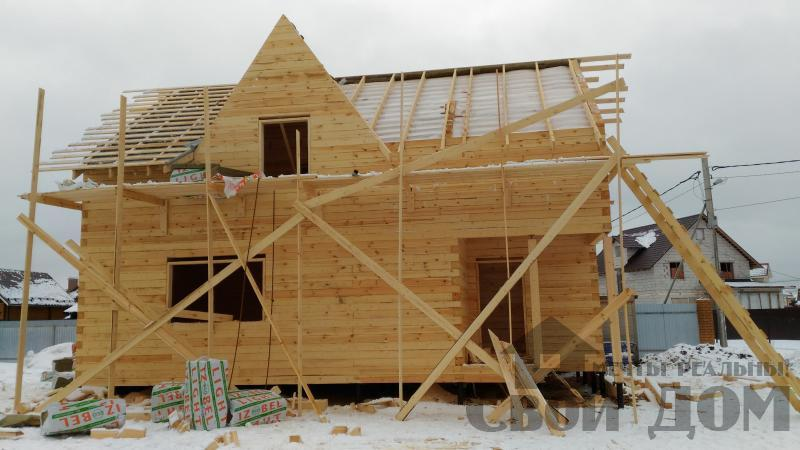 Дом 8 на 11 по проекту Брус 11 из  бруса 150 150 мм в Железнодорожном. Фото 45