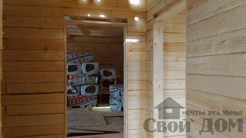 Дом 8 на 11 по проекту Брус 11 из  бруса 150 150 мм в Железнодорожном. Фото 54