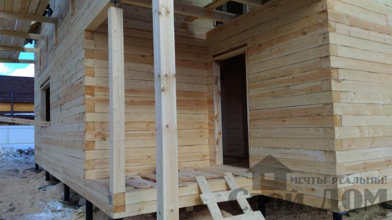 Дом 8 на 11 по проекту Брус 11 из  бруса 150 150 мм в Железнодорожном. Фото 55