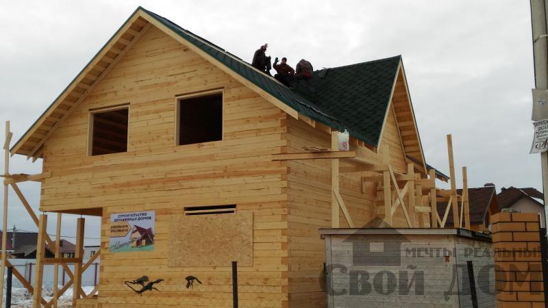 Дом 8 на 11 по проекту Брус 11 из  бруса 150 150 мм в Железнодорожном. Фото 68