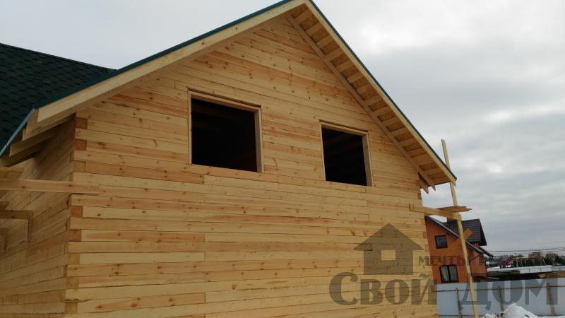 Дом 8 на 11 по проекту Брус 11 из  бруса 150 150 мм в Железнодорожном. Фото 75