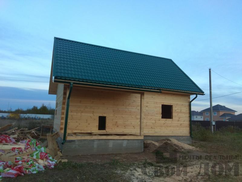 Душоново. Дом из бруса 150 на 150 мм на ленточно-армированном фундаменте. Фото 14