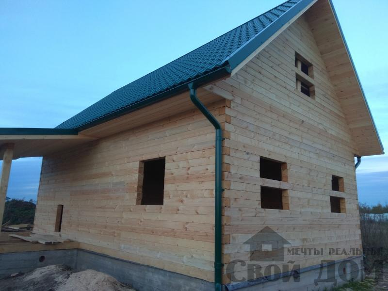 Душоново. Дом из бруса 150 на 150 мм на ленточно-армированном фундаменте. Фото 1