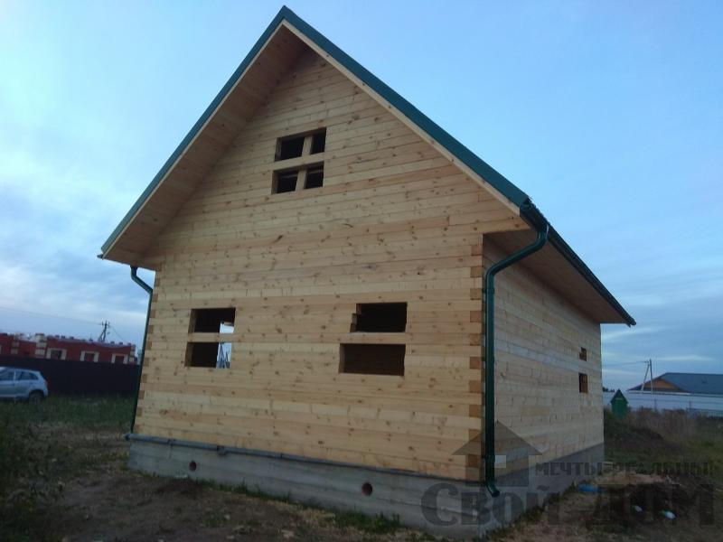 Душоново. Дом из бруса 150 на 150 мм на ленточно-армированном фундаменте. Фото 19