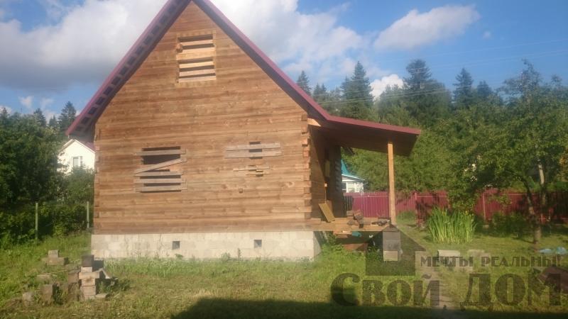 строительство дома 8 на 9 из бруса на садовом участке . Фото 1