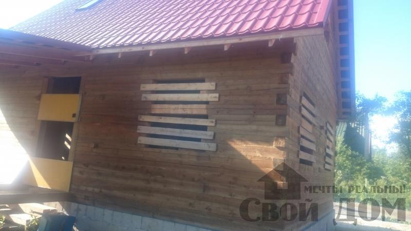 строительство дома 8 на 9 из бруса на садовом участке . Фото 4