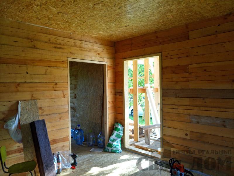 строительство дома 8 на 9 из бруса на садовом участке . Фото 5