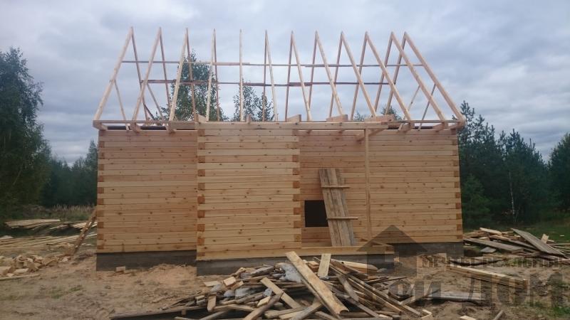 Строительство дома 8 на 9 в Ногинском районе. Фото 3