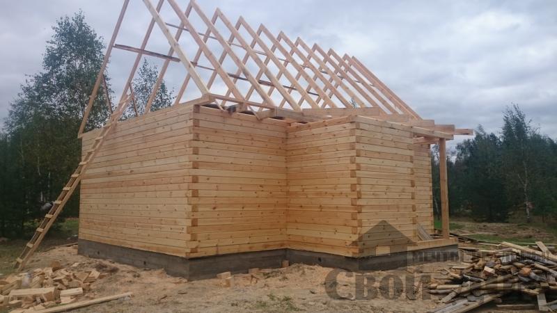 Строительство дома 8 на 9 в Ногинском районе. Фото 4
