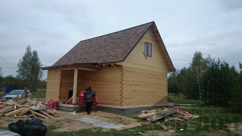 Строительство дома 8 на 9 в Ногинском районе. Фото 8